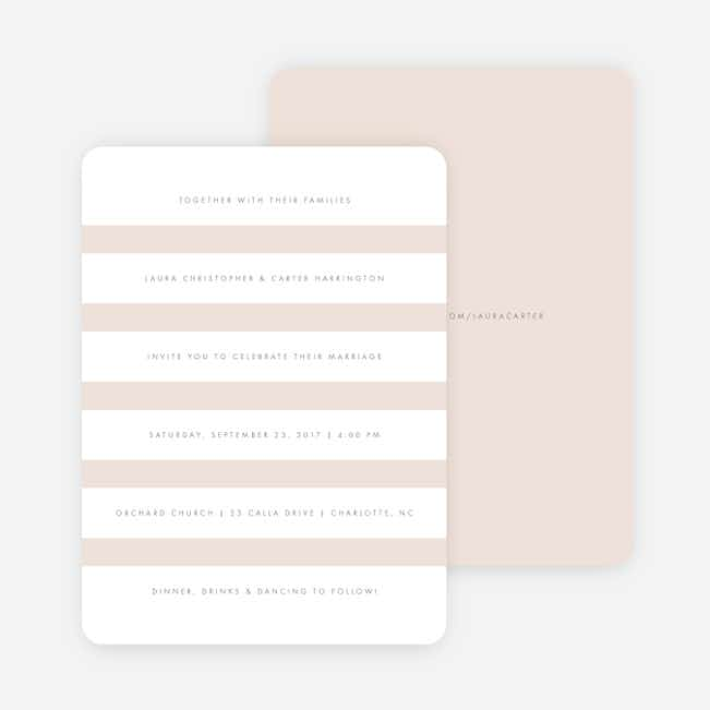 Wedding Bands Wedding Invitations - Pink