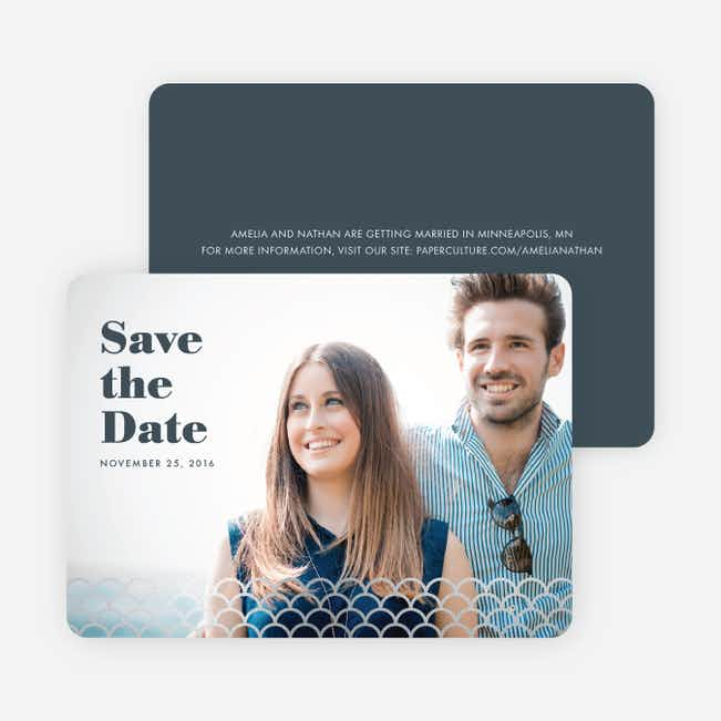 Making Waves Save the Dates - Gray