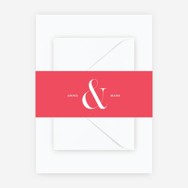 Ampersand Wedding Belly Bands - Red