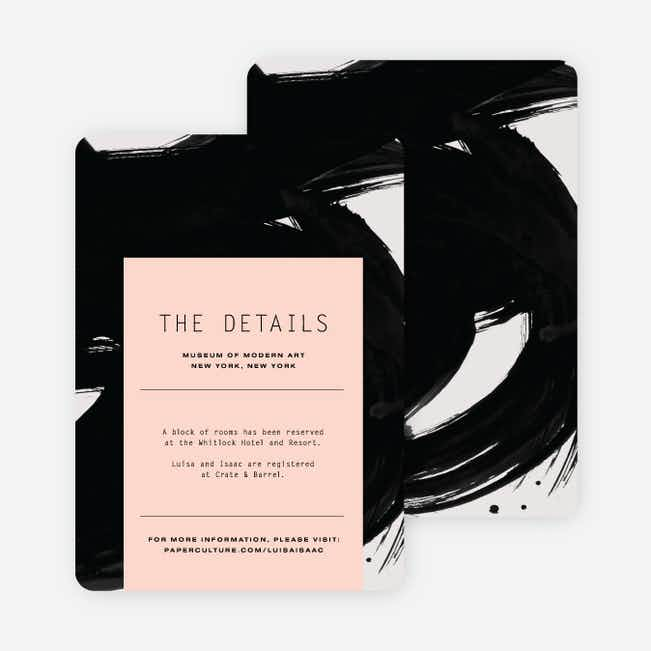 Bold Strokes Wedding Direction Cards - Pink