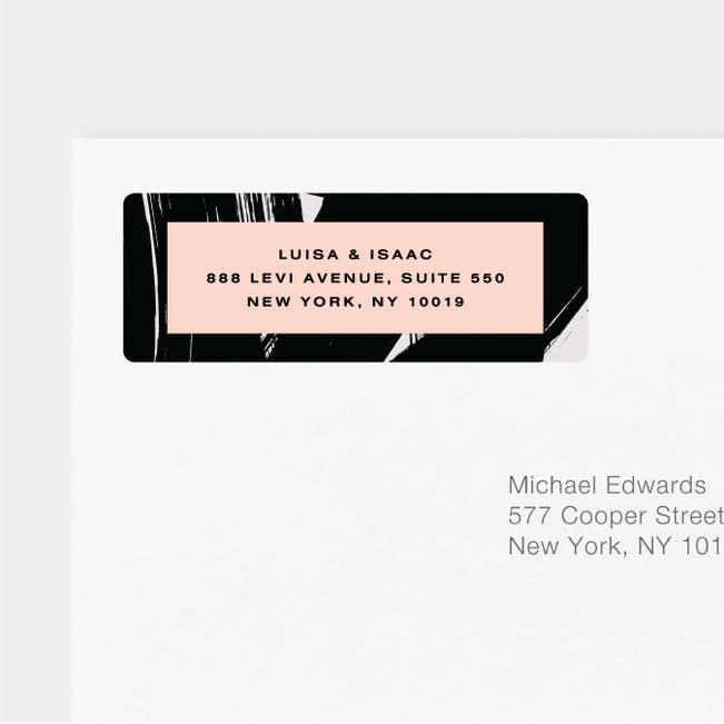 bold strokes wedding return address labels paper culture