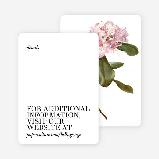 Botanical Bliss Wedding Direction Cards - Black