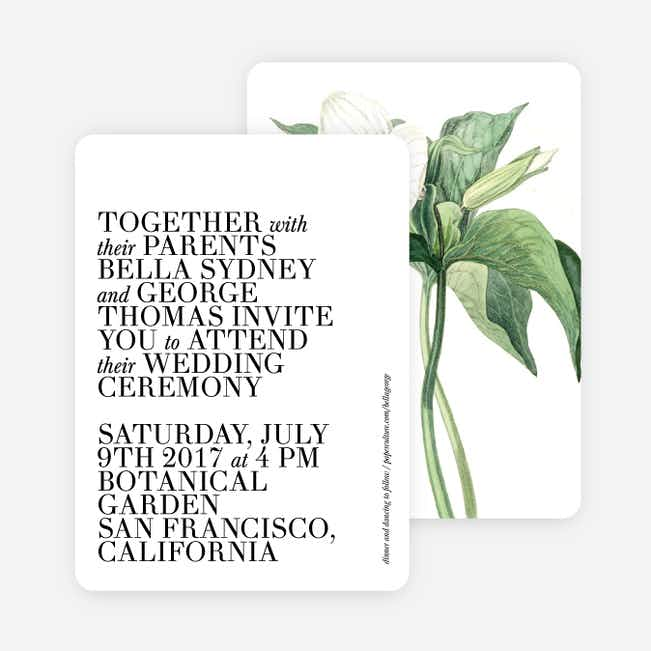Botanical Bliss Wedding Invitations - Black