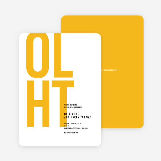Color Type Wedding Invitations - Yellow