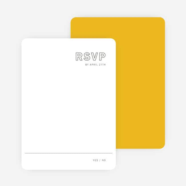 Color Up Wedding Response Cards - Yellow