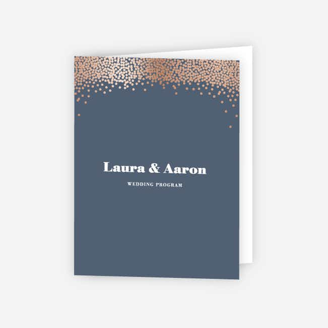 Confetti of Joy Wedding Programs - Blue