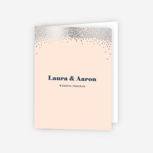 Confetti of Joy Wedding Programs - Pink