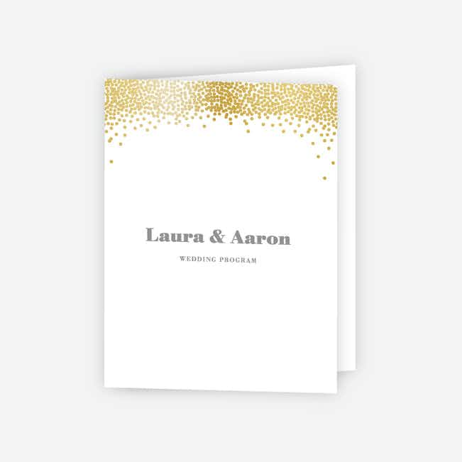 Confetti of Joy Wedding Programs - White