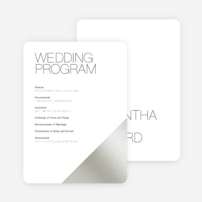 Cornerstones of Bliss Wedding Programs - White