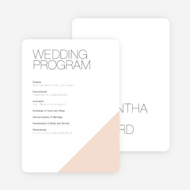Cornerstones of Bliss Wedding Programs - Pink