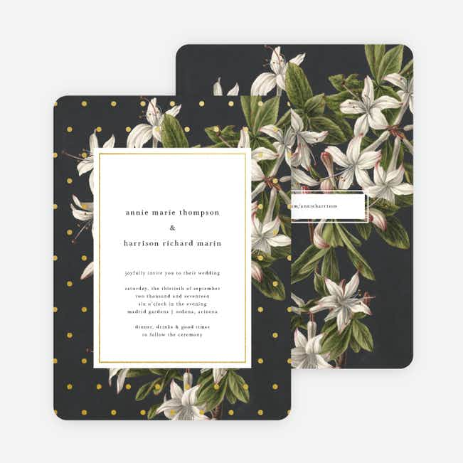 Floral Bliss Wedding Invitations - Gray