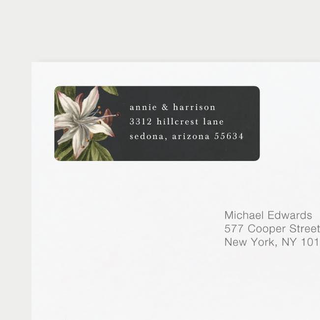 floral bliss wedding return address labels paper culture