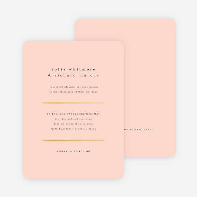 Less is More Wedding Invitations - Pink