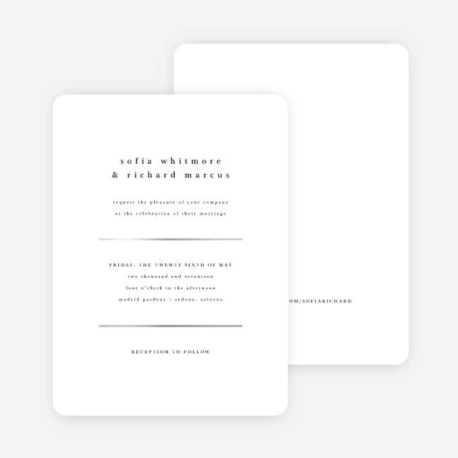 Less is More Wedding Invitations - White