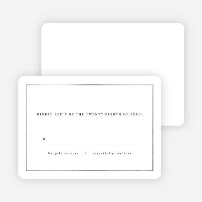 Less is More Wedding Response Cards - White