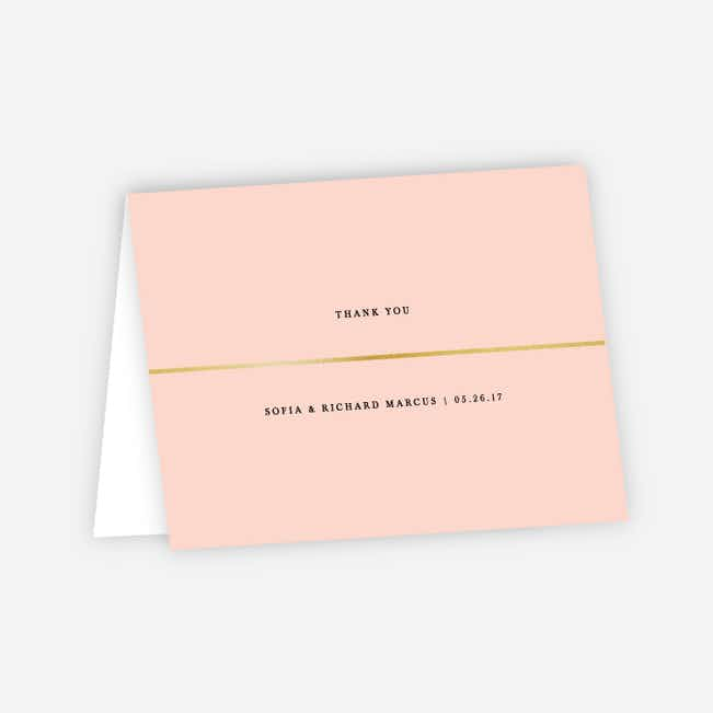 Less is More Wedding Thank You Cards - Pink