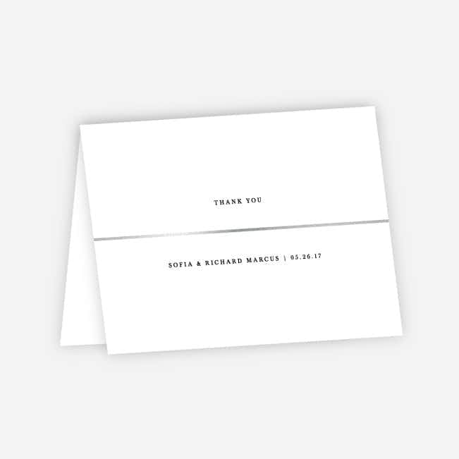 Less is More Wedding Thank You Cards - White