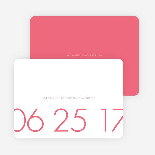It's a Date Save the Date Cards - Pink