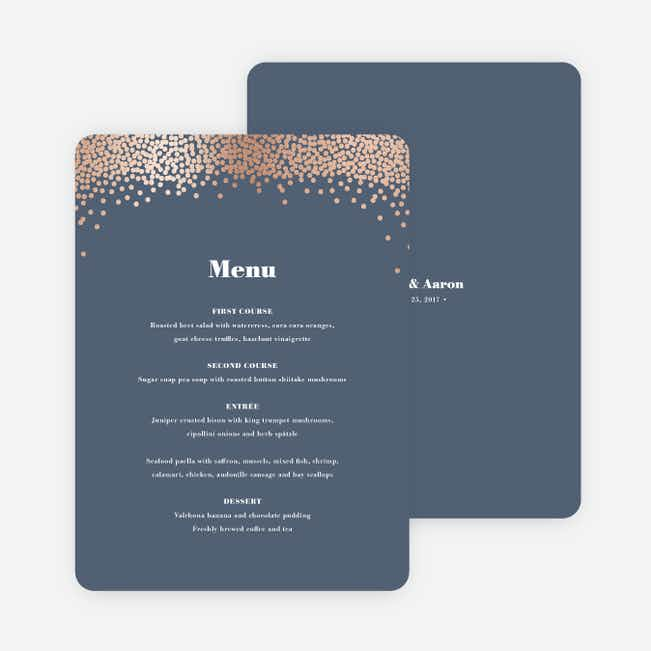 Confetti of Joy Wedding Menus - Blue