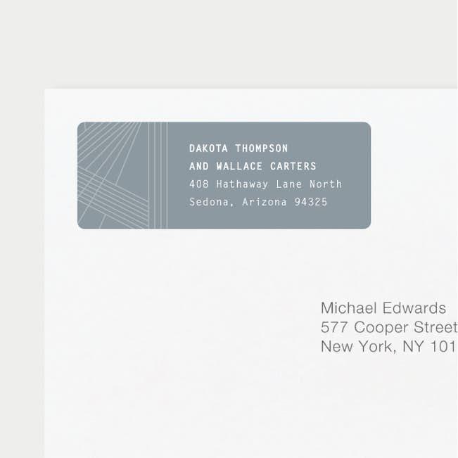 label it wedding return address labels paper culture