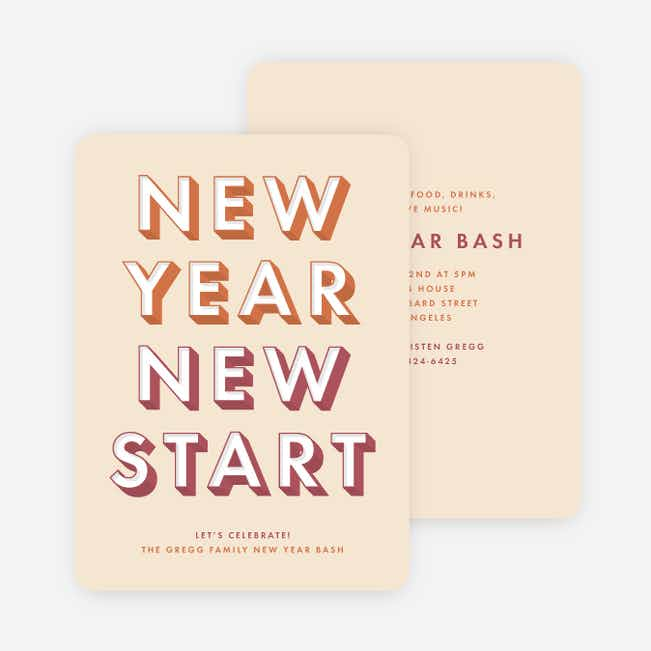Big Bash New Year Cards - Red