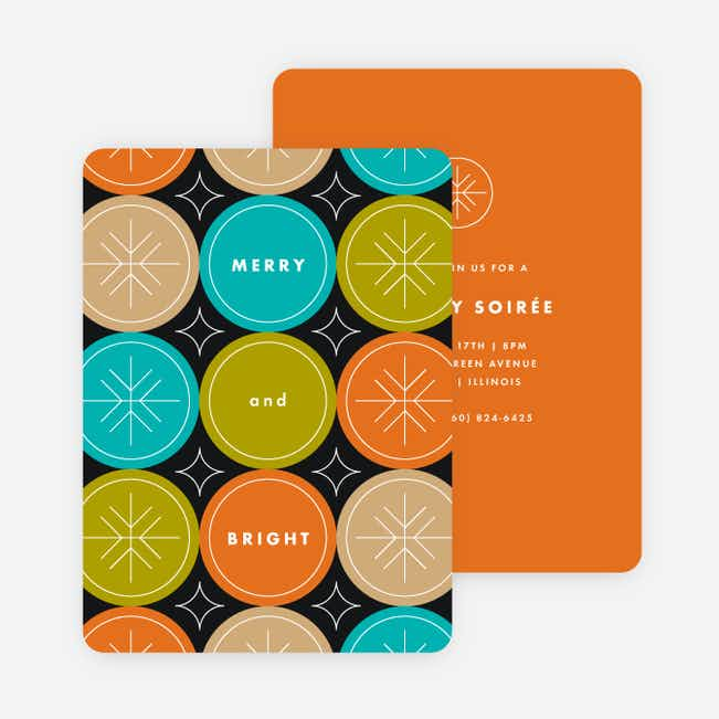 Circle Fun Holiday Invitations - Orange