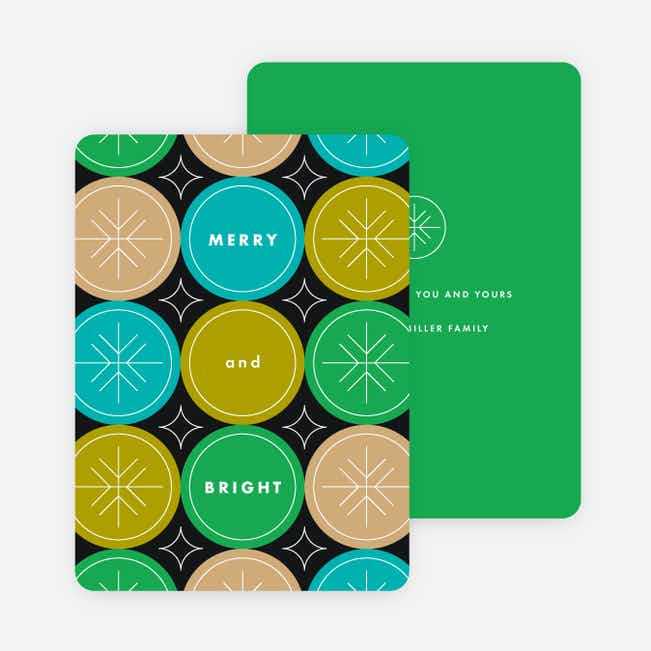 Circle Patterns Holiday Cards - Green