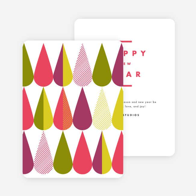 Colorful Drops Corporate New Year Cards - Multi