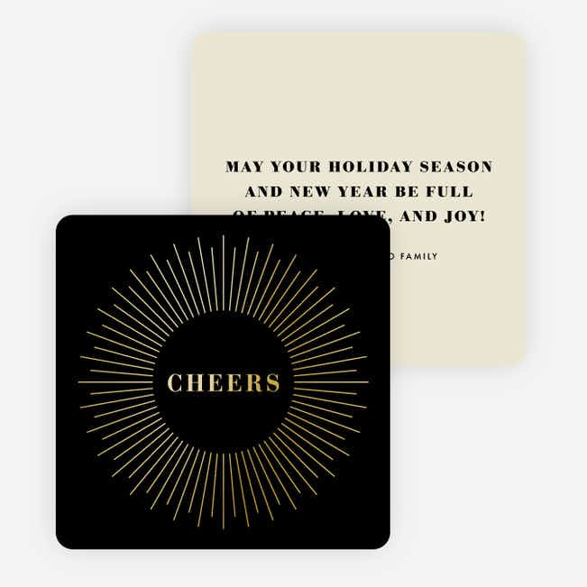 Foil Bursts of Joy Holiday Cards - Black