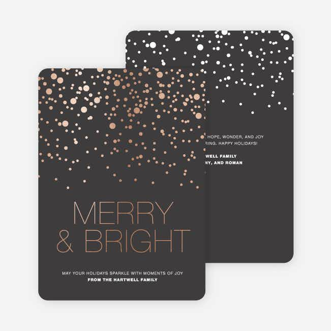 Foil Snow Holiday Cards - Gray
