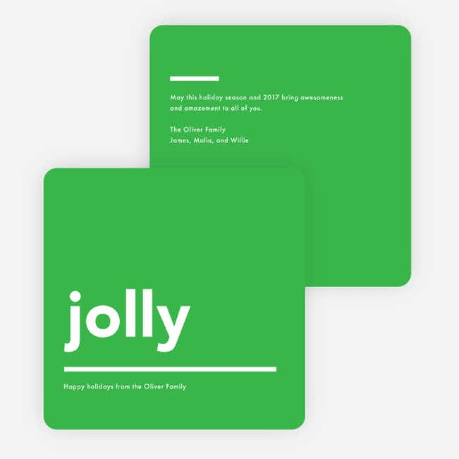 Jolly Lines Holiday Cards - Green