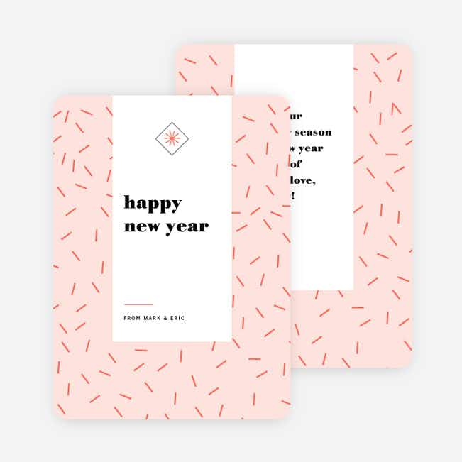 Sprinkle Burst New Year Cards - Pink