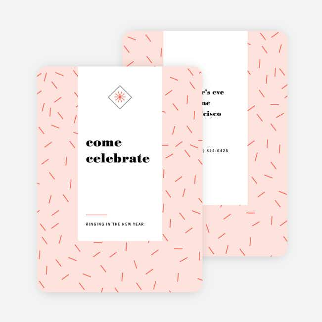 Sprinkle Celebration Holiday Party Invitations - Pink
