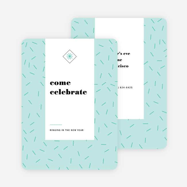 Sprinkle Celebration Holiday Party Invitations - Blue