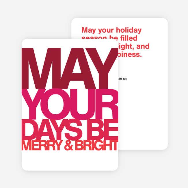 Bold Greetings Holiday Cards - Red