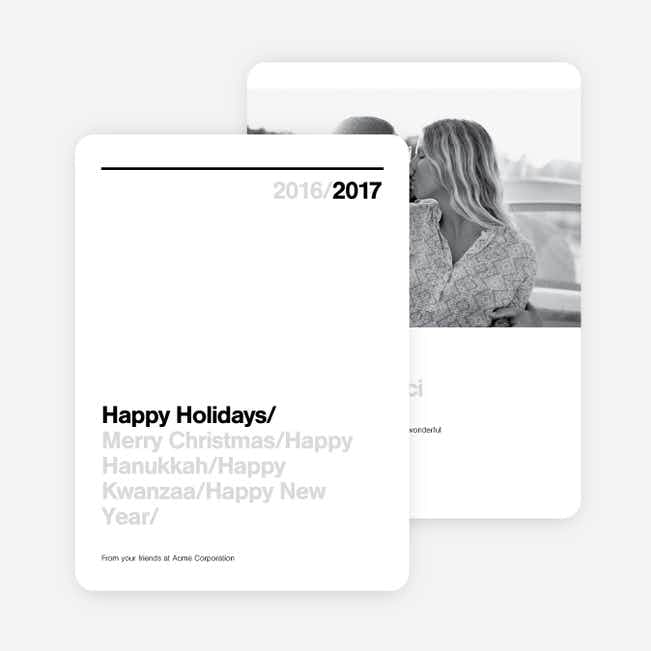 Clean Lines Family Holiday Cards - Black