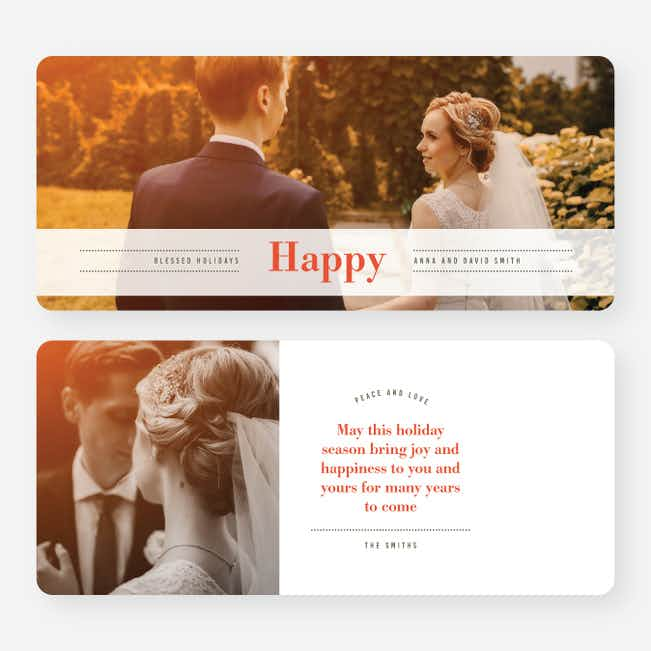 Happy Banner Holiday Cards - Red