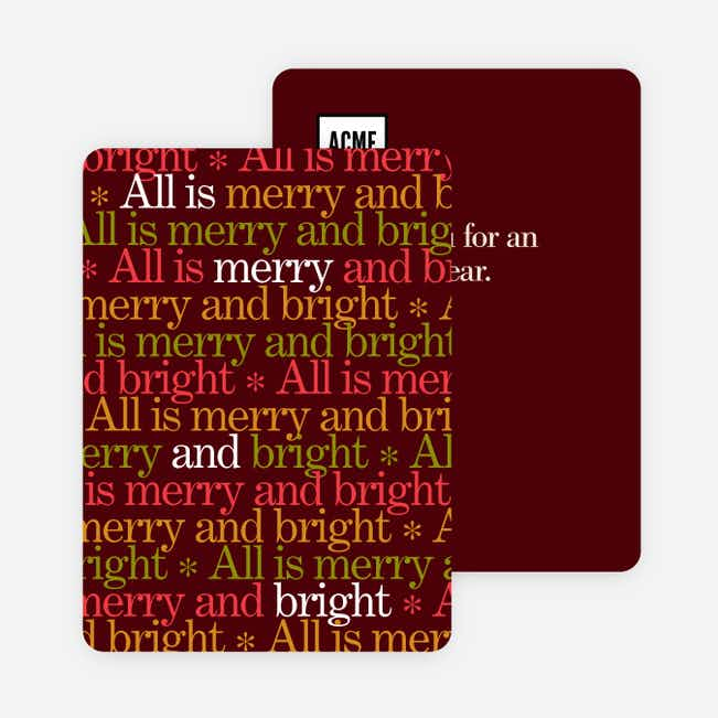 Holiday Type Corporate Cards - Red