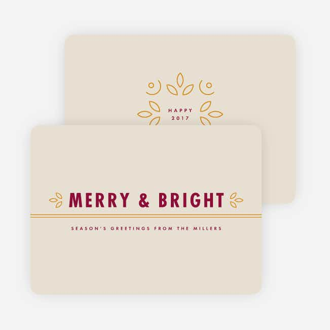 Merry & Bright New Year Cards - Red
