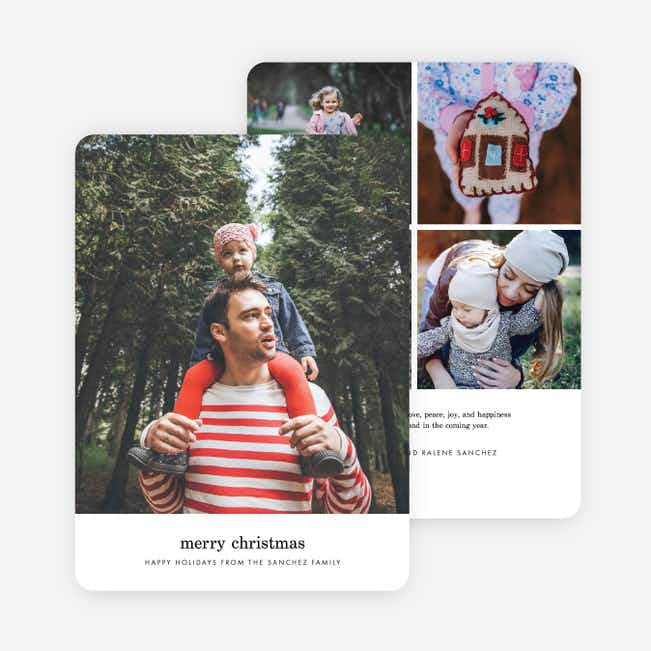 Simple Wish Family Photo Holiday Cards - Black