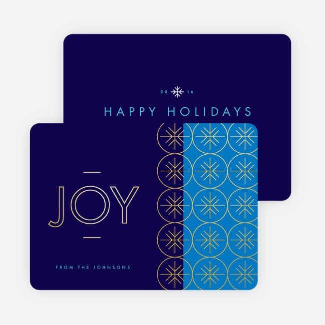 Snowflake Joy Holiday Cards - Blue