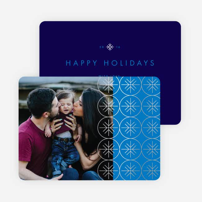 Snowflakes Falling Holiday Cards - Blue