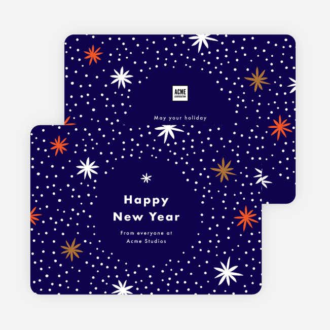 Starbursts Corporate Holiday Cards - Blue
