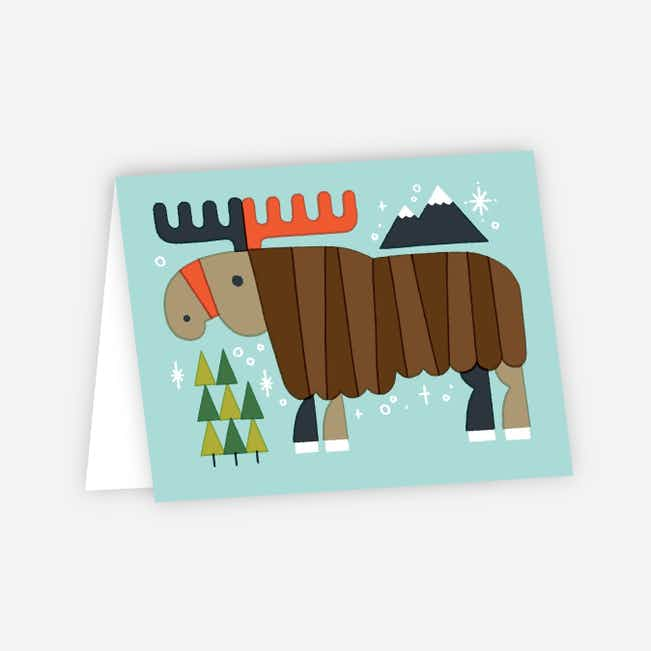 Vintage Moose Holiday Cards - Multi
