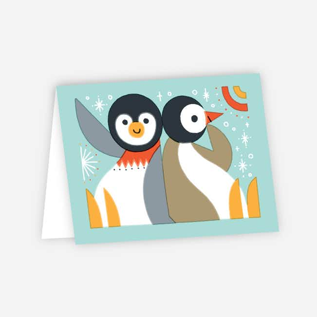 Vintage Penguin Holiday Cards - Multi