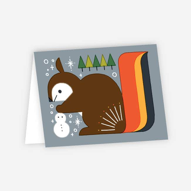 Vintage Squirrel Holiday Cards - Multi