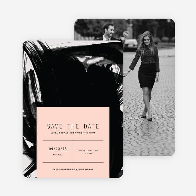 Bold Strokes Save The Dates - Pink