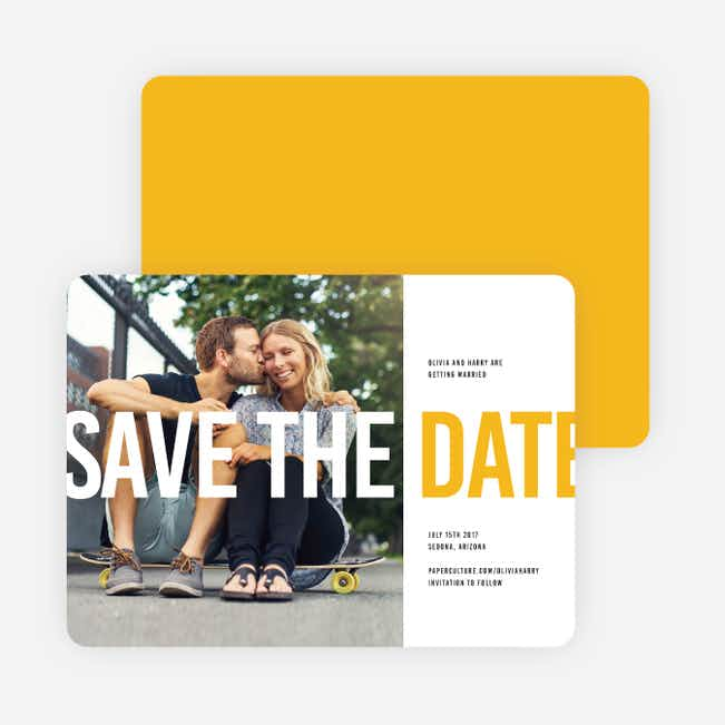 Color Type Save The Dates - Yellow