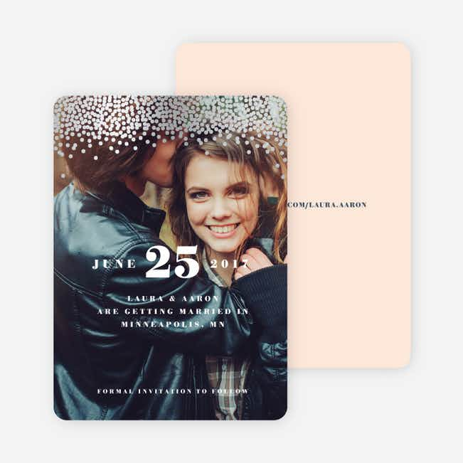 Confetti of Joy Save the Dates - Pink