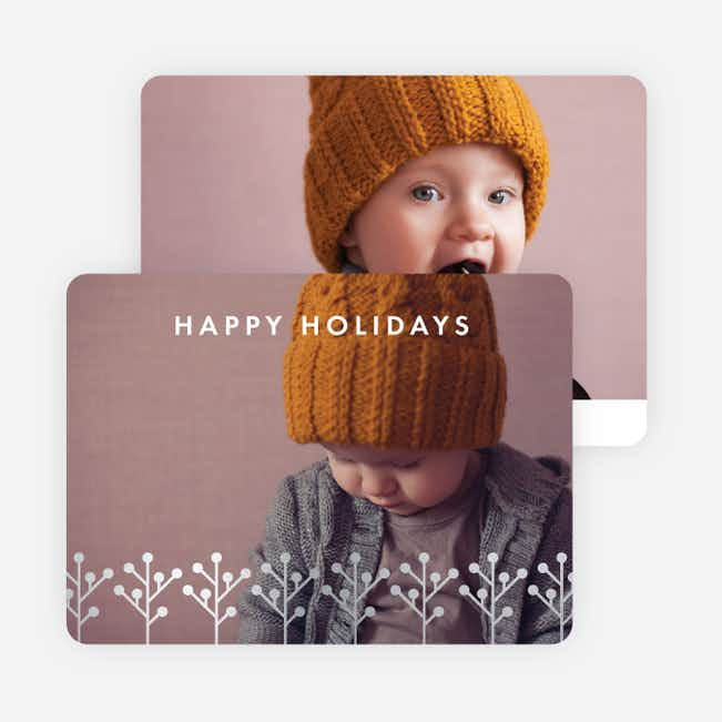 Foil Branches Holiday Cards - Gray